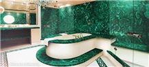 Semiprecious Gemstone Green Malachite for Bathroom Project