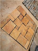 Beige Yellow Cultured Slate Garden Wall Decoration