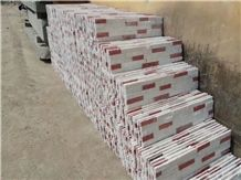 Red & White Sandstone Cultural Stone Wall Cladding Covering