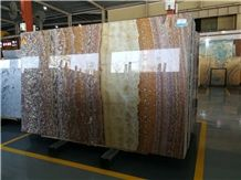 Brown Tiger Onyx Slabs Multicolour Red Royal Onyx Picasso