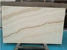 Luyxure Wooden White Onyx Book Matched for Wall Translucent Design