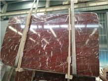 Coral Red Marble from Xzx-Stone in White Verns