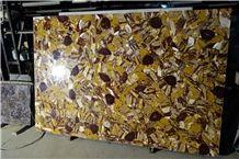 Gemstone Slab with Big Flower Surface for Hot Sale