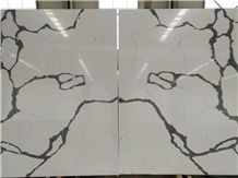 New White Amazing Vern Artificial Stone Slabs