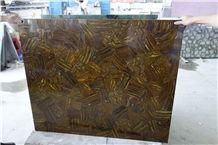 Semiprecious Stone Slab in Brown Colour