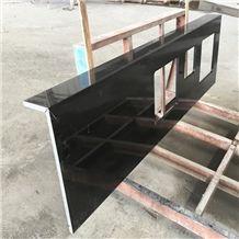 Absolute Black Granite Kitchen Work Tops,China Black Granite Benchtops