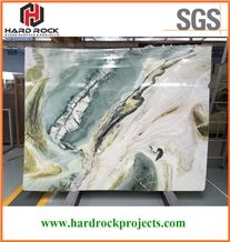 China Dreaming Green Marble Tiles & Slabs/White/Wizard/Wall/Bookmatch