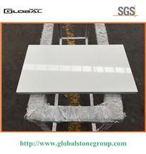 Polished Pure White Quartz Bar Tabletops
