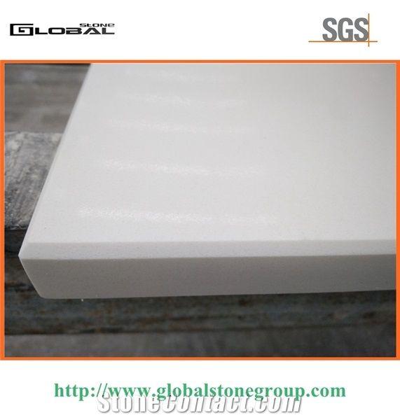 Polished White Quartz Bar Tabletops