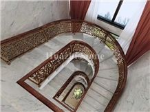 Aurora White Marble/White Marble Stairs & Steps