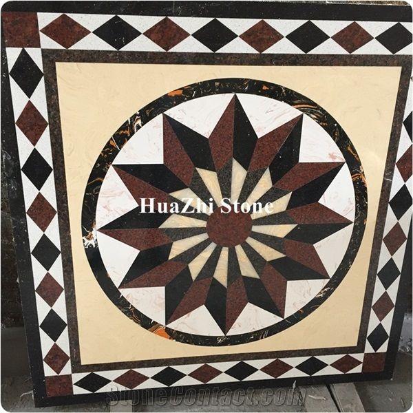Beautiful Marble Floors Design,Water Jet Marble Designs,Flower Marble - Xiamen Huazhi Import & Export Co., Ltd