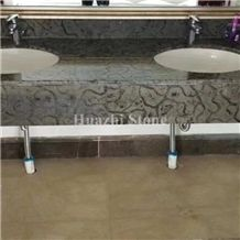 Black Marble Bath Top for Hotel Project Decor