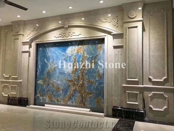 Blue Onyx Wall Tiles Natural Stone Tiles Slabs Home Interior Design From China Stonecontact Com