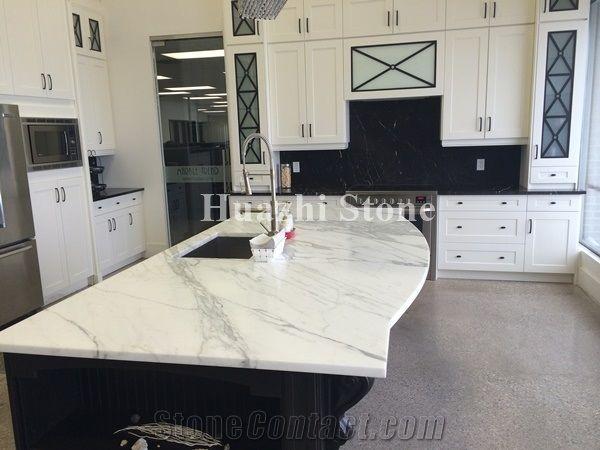 Carrara White Marble Kitchen Countertops Stone Bench Tops ...