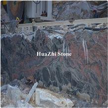 China Quarry Owner Granite Block Boulders Rough Exotic Multicolor Red