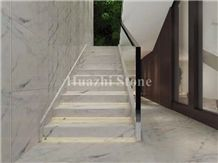 Chinese White Marble with Black Vein Stairs/Home Decoratrion