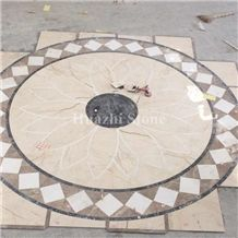 Composited Marble Waterjet Medallion/Floor Projects/Marble Medallions