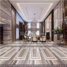 Crystal Wood Marble, White Wooden Marble Slab