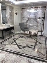 Eliza White Natural Marble Slabs, Tiles