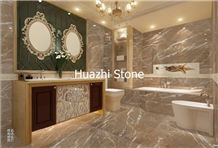 Emperador Light Marble Bath Design, Walling Tiles/Flooring Tiles