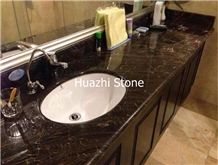 European Network Dark Grey Marble/Vanity Tops/Hotel Bath Top
