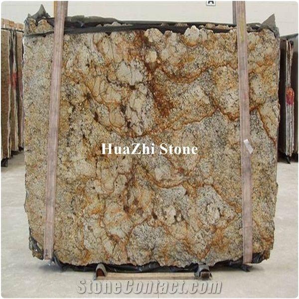 Granite Slabs Brazil Stone Yellow Type