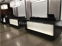 Hotel Reception Table Tops/ Grey Marble Countertops/ Customize