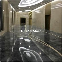 Imported Bruce Ash Grey Marble Tile Flooring for Customize Blue Sky