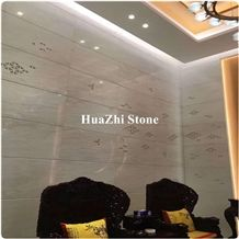 Italy Polished Transparent White Cary Ice Jade Marble Expensive Projec