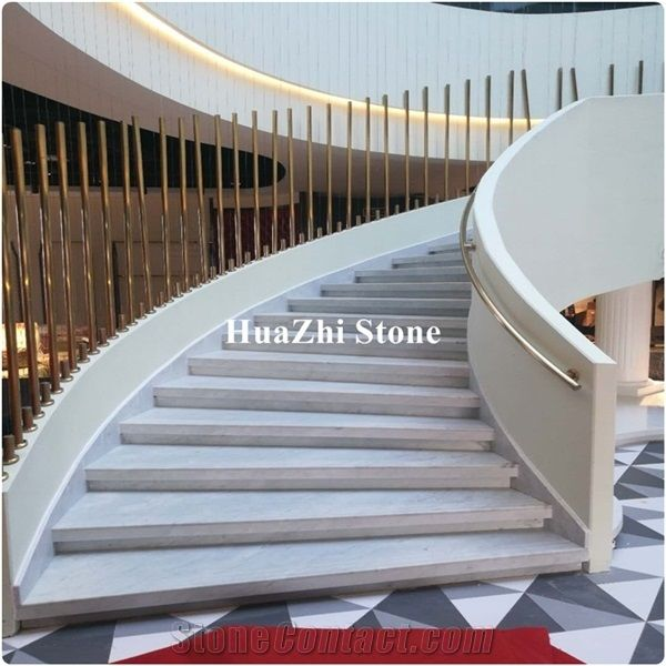 Makrana White Marble Price High Quality Volakas White Marble Stairs From China Stonecontact Com