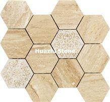 Marble Mosaictiles/Bathroom Mosaicflooring Mosaic /Bath Renovation