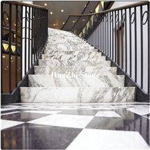 Marble Stair Treads and Risers Tile Stair Bullnose and Riser Threshold