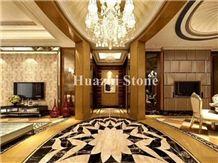 Marble Waterjet/Square Floor Carpet/Mosaic Tiles/Hotel Interior Design