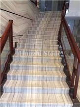 Natural Crystal Wooden White Marble for Stairs & Steps&Floor Tile