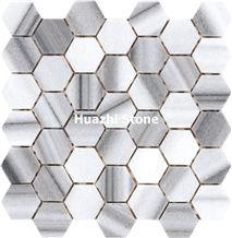 Natural Marble Mosaic/ Floor Paving/Shower Design /Bathroom Flooriing