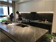 Natural Stone Pietra Grey Marble Kitchen Countertops