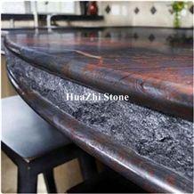 New Brazil Iron Red Raw Granite Countertops