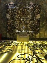 Onyx Round Waterjet Home Decor Marble Floor Medallions Interior Design