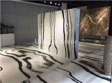Panda White Marble Floor Tiles, Stone Slabs & Tiles, Interior Design