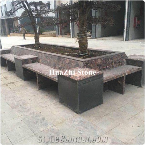 Tree Grate Pool Of Granite Marble Floor Tiles Of Edge