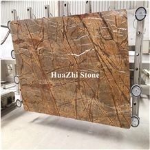 Tropical Rainforest Brown Marble Slabs Popular for Luxury Decoration