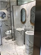 White Marble Bath Design, White Marble Wall Tiles, Vanity, Stone Slabs