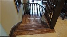 Wooden Red Marble Stairs & Steps