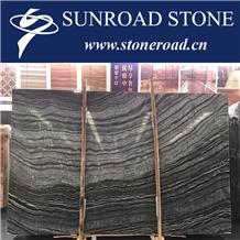 Blackforest Marble,Zebrano Black Wood Marble Wall Floor Tiles Covering