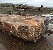 New Algerian Brown Marble Blocks