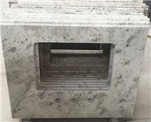 Andromeda White Bathroom Vanity/ Bath Tops, Sri Lanka White Granite