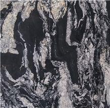 Black Ink Beautiful Mountain Drawing Backdrop Polished Surface