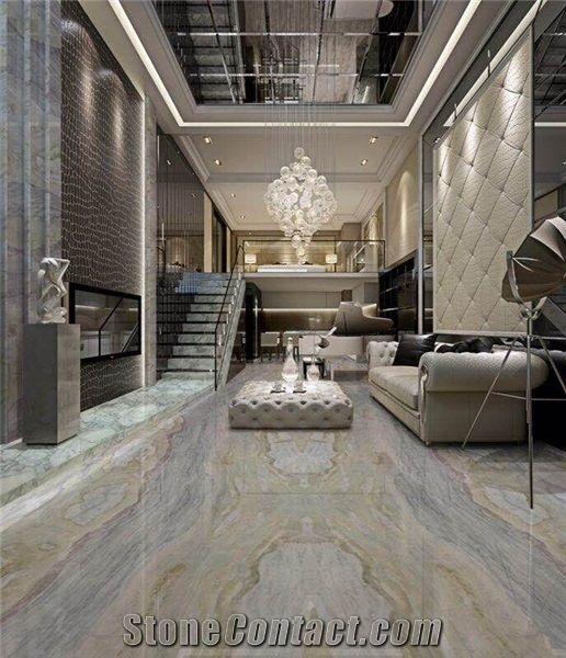 China Blue Sea Marble Slabs Tiles Living Room Decoration Hotel Decor Stonecontact Com