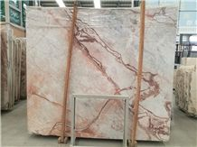 China Red Spider Marble Slab Cut Panel Wall Hotel Lobby Floor Covering