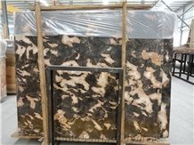 Golden Butterfly Marble Slabs & Tiles/Black&Yellow Stone for Wall